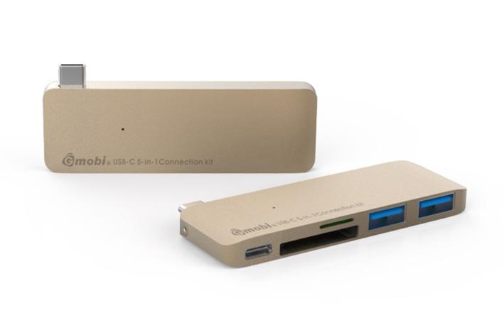 Gmobi Multi-port USB-C Hub - zlatý