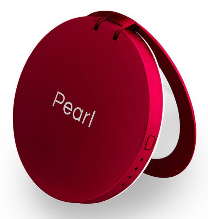Hyper Pearl make-up mirror a powerbank červená
