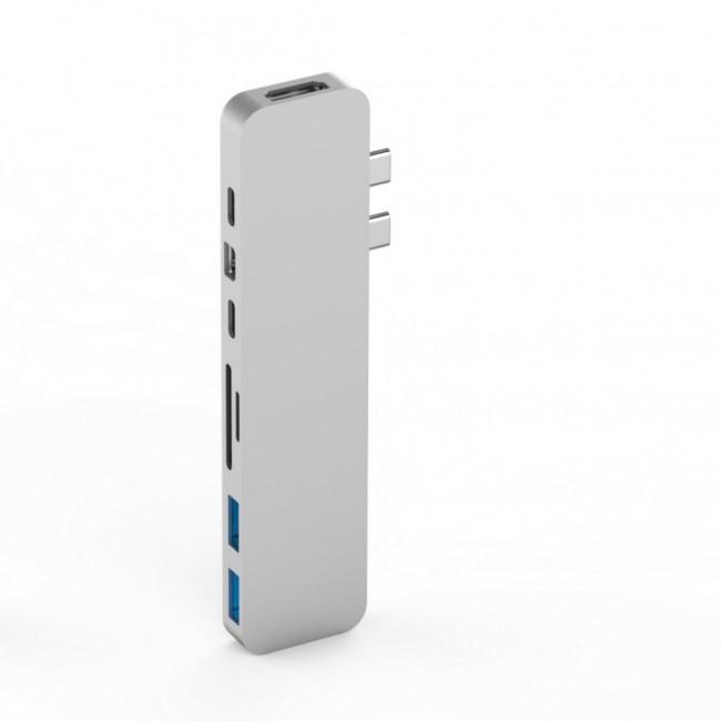 HyperDrive PRE USB-C Hub pre MacBook Pre - stříbrný