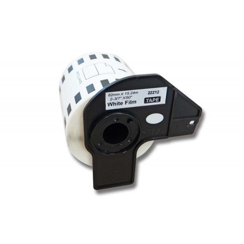 Rolka etikiet pre Brother DK-22212 - 62mm x 15,24m (kompatibilná)