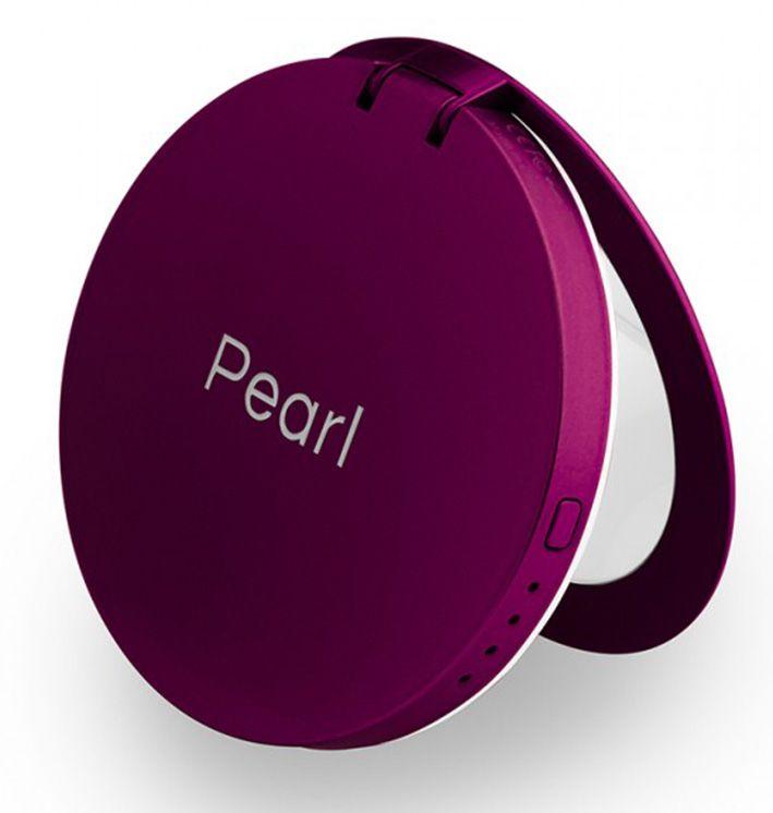 Hyper Pearl make-up mirror a powerbank fialová