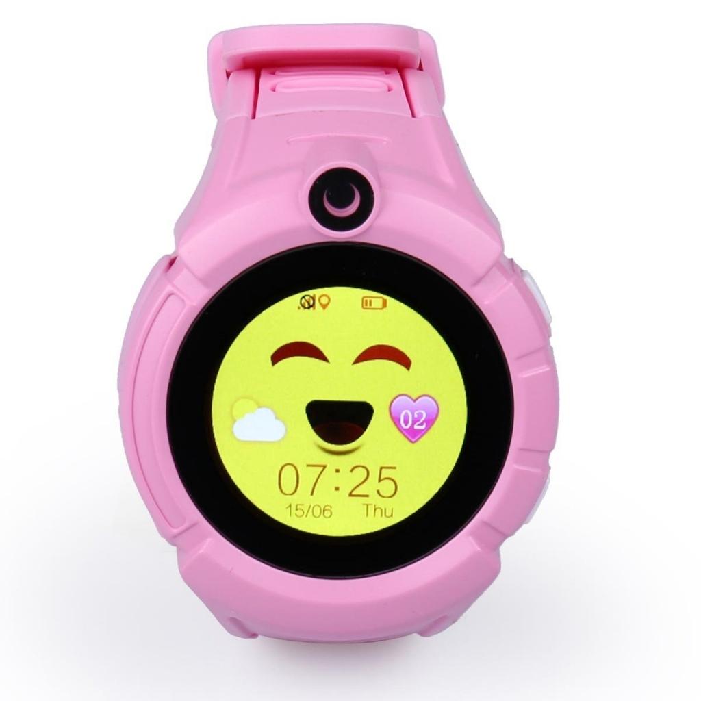 CEL-TEC detské hodinky s GPS a fotoaparátem GW600 pink