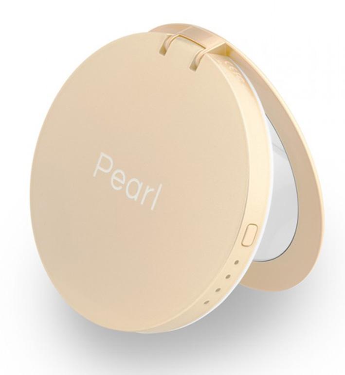 Hyper Pearl make-up mirror a powerbank zlatá
