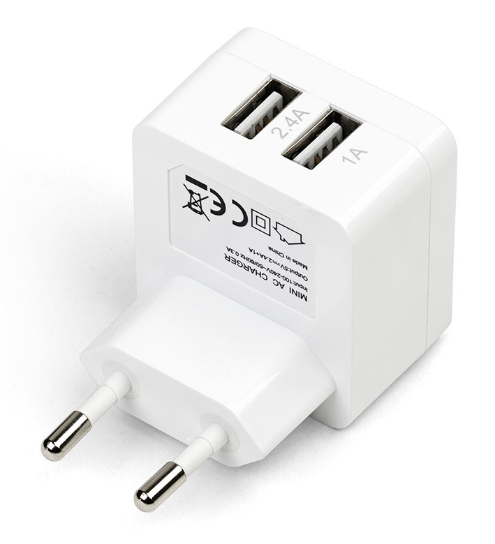 eSTUFF  Home Charger 2 USB 2.4A + 1A