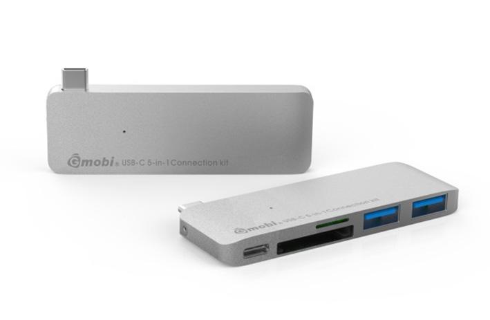 Gmobi Multi-port USB-C Hub - stříbrný