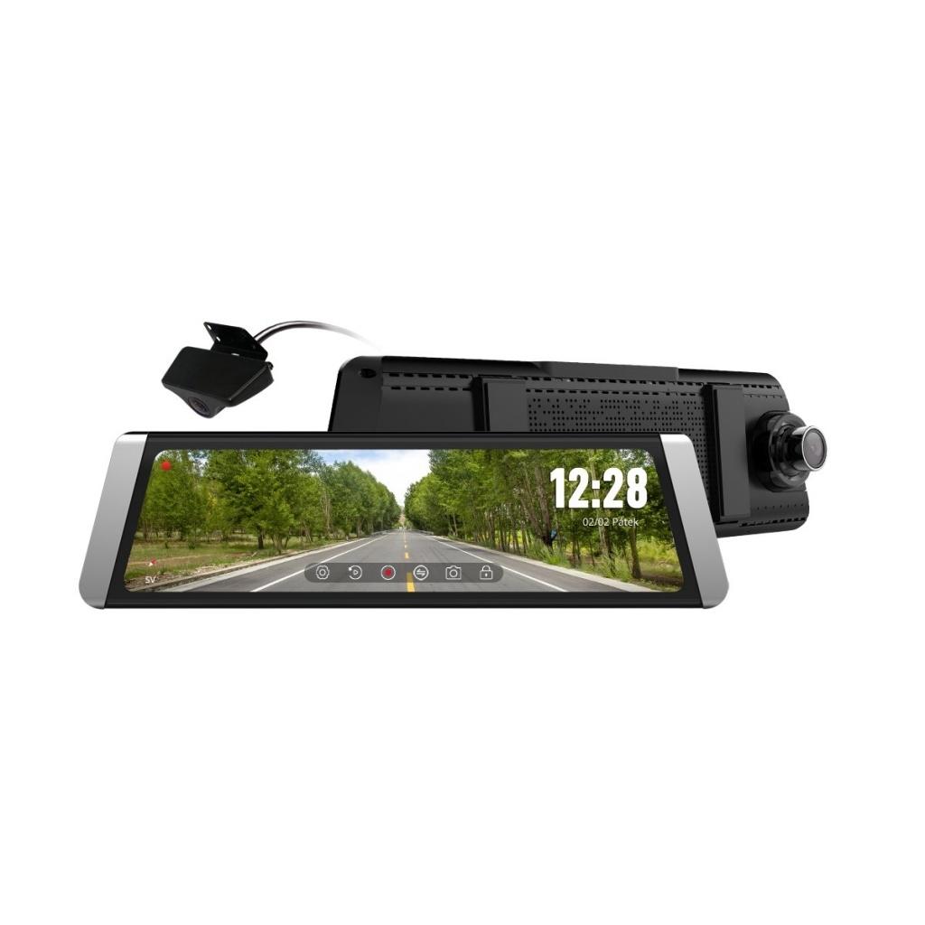 CEL-TEC kamera do auta v spätnom zrkadle M10 DUAL GPS Premium
