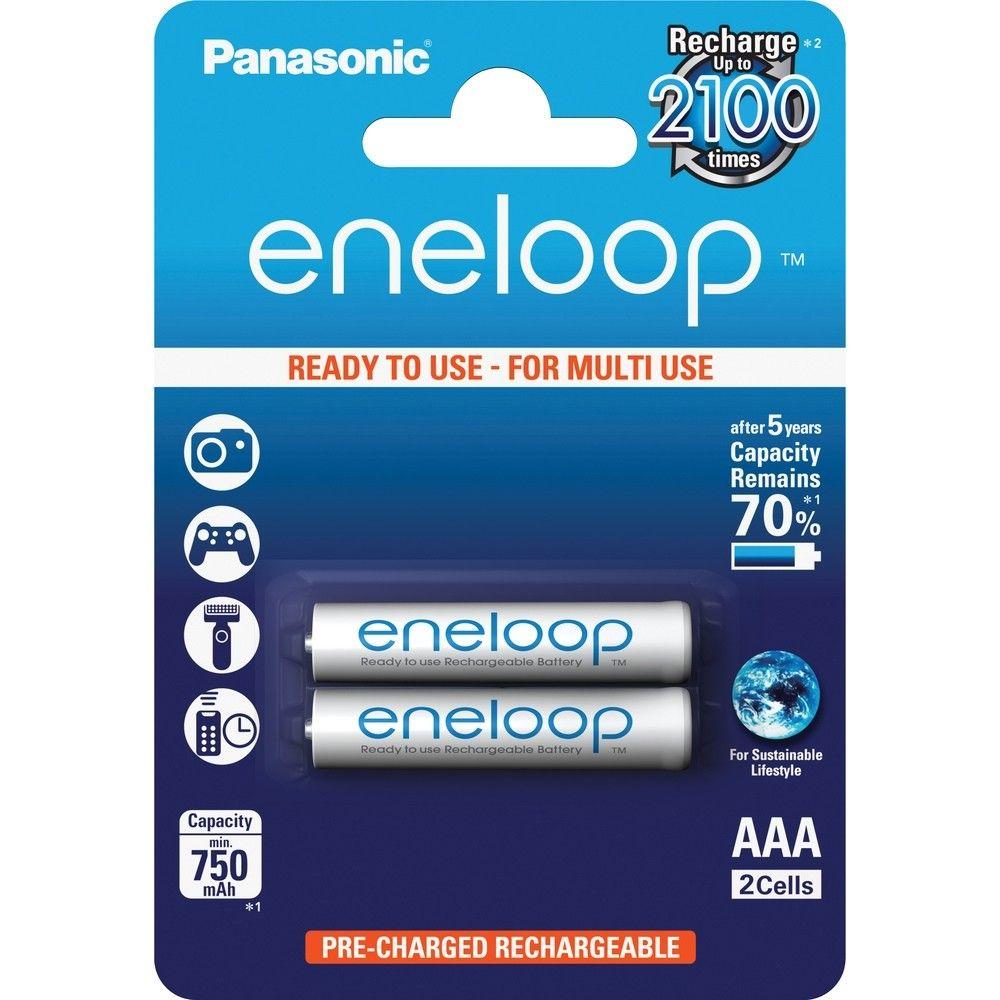 Balenie - Batéria Panasonic AAA Eneloop , mikrotužková - 750 mAh (2ks)