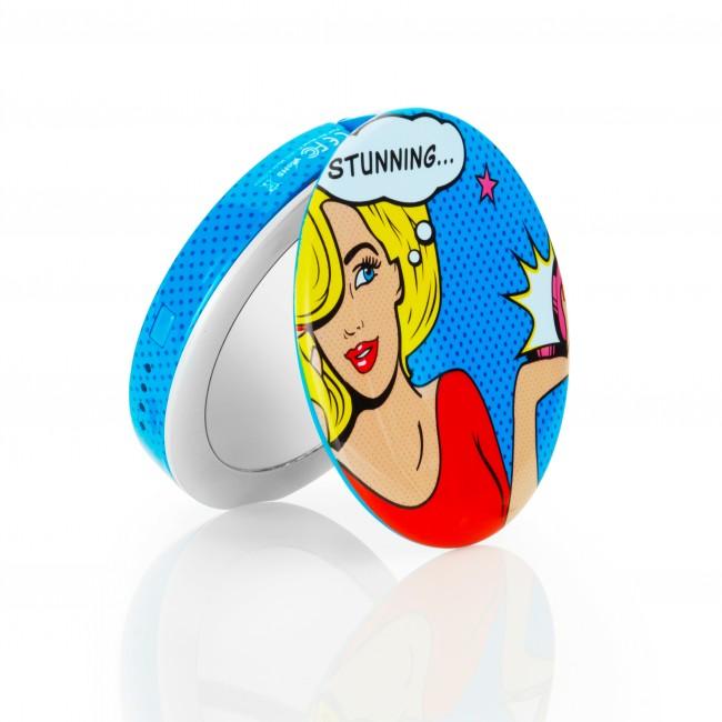 Hyper Pearl Mini make-up mirror & powerbank 1600mAh - Comic Blond