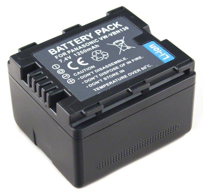 Batéria pre Panasonic VW-VBN130 - 1250 mAh