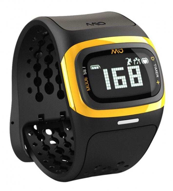 Mio ALPHA 2 športová hodinky BT sa senzorom srdečnýho tepu - žluté