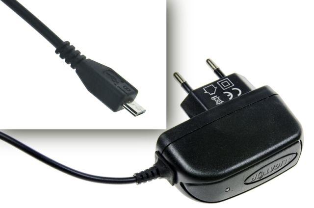 Univerzálny nabíjačka mobilného telefónu s microUSB konektorom 1A