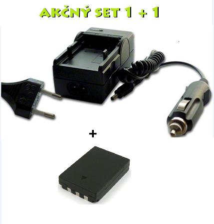 Akčný set PE: Nabíjačka pre Olympus LI-10B + batéria 1100 mAh