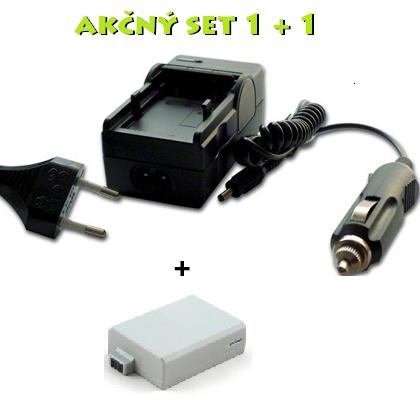Akčný set LP-E5 pre Canon: Nabíjačka + batéria 1080mAh Li-Ion