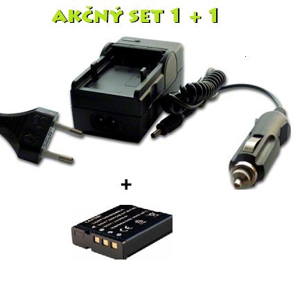 Akčný set NP-40 pre Casio: Nabíjačka + batéria Li-Ion 950 mAh