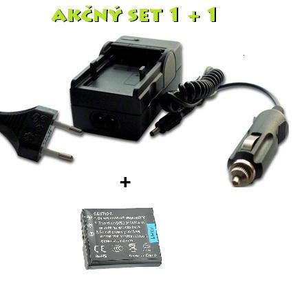 Akčný set NP-BG1 pre Sony: Nabíjačka + batéria Li-Ion 950mAh