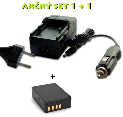 Akčný set NP-W126 pre FujiFilm: Nabíjačka + batéria Li-Ion 1140mAh