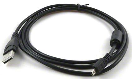 USB kábel pre fotoaparáty Fuji, Konica Minolta, Nikon, Olympus, Panasonic, Pentax, Sanyo a Sony