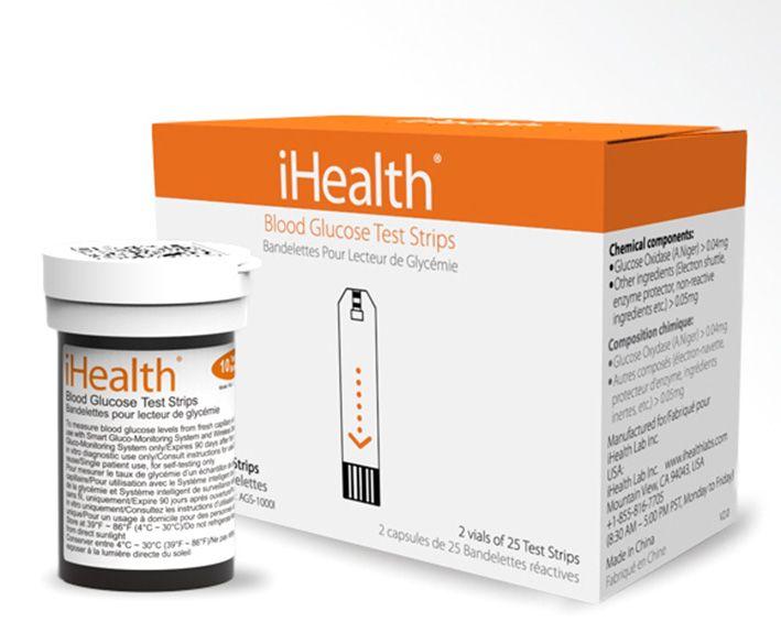 iHealth AGS-1000I testovací preužky pre glukometry iHealth