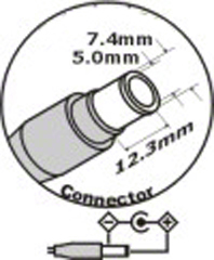 AC adaptér pre Dell 19,5V 6,7A - 7,4x5,0mm
