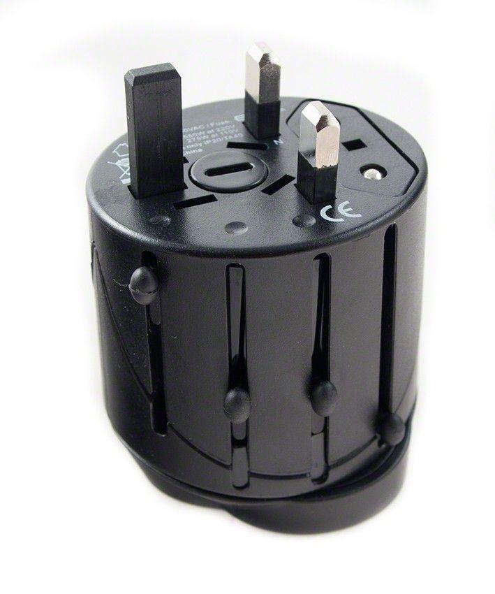 Univerzální cestovní adaptér WORLD TRAVEL s USB výstupem (EU, UK, USA, AUS atd.)