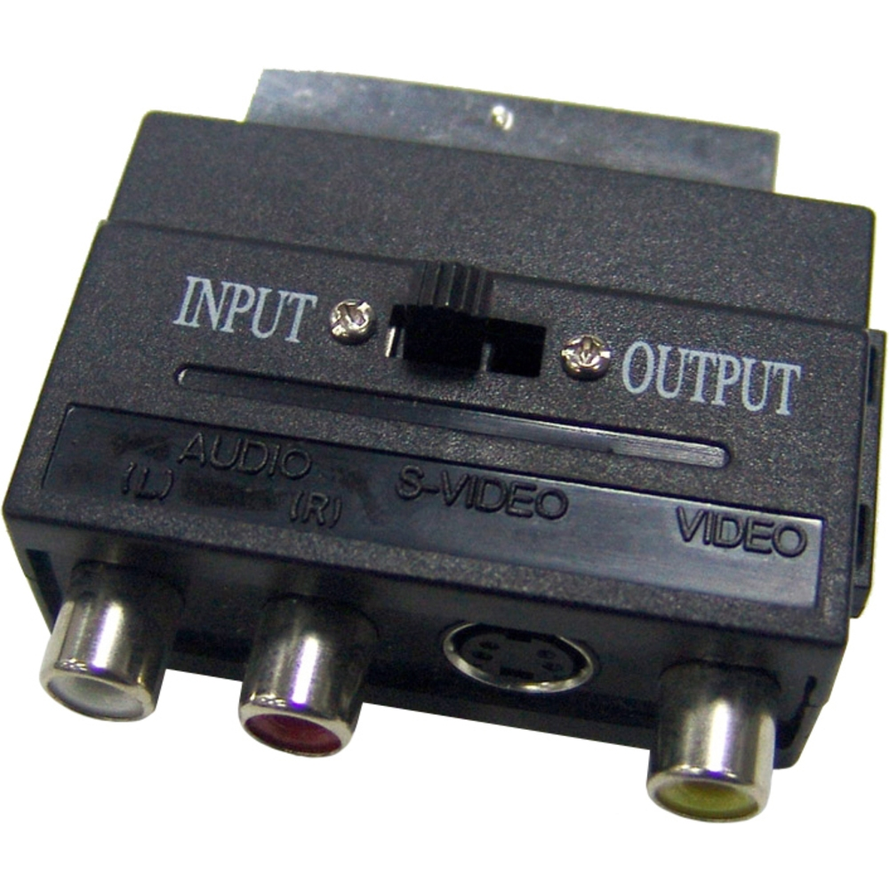 Redukcie SCART-3CINCH+S-VIDEO adaptér