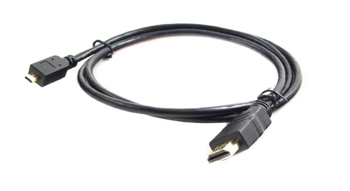 HDMI kábel HDMI A male - microHDMI D male, 1m