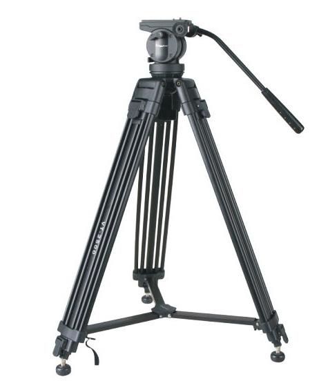 KINGJOY video stativ VT-2500 - fluidní kulová hlava, dlouhá švenk páka
