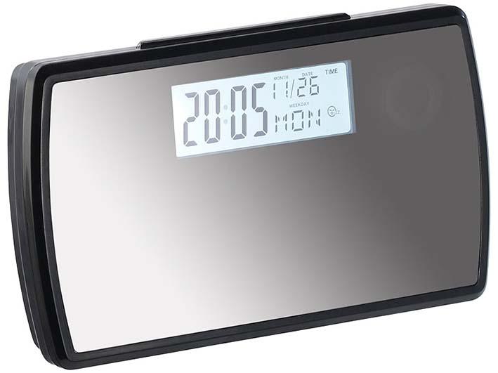 Skrytá kamera v budíku CEL-TEC HD 20 Mirror s adaptérom