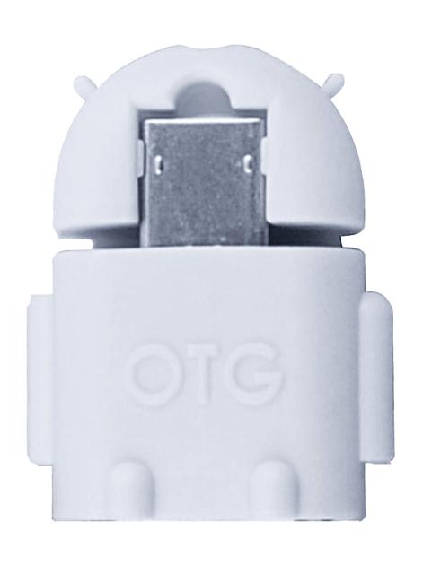 Adaptér microUSB - USB (OTG) - bílý