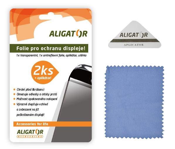 Nová ochranná fólia ALIGATOR HTC One M7, 2ks + aplikátor