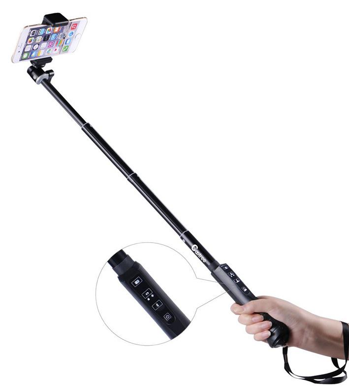 Monopod Cootree KS-01 - teleskopický bluetooth selfie držiak - 35-86 cm