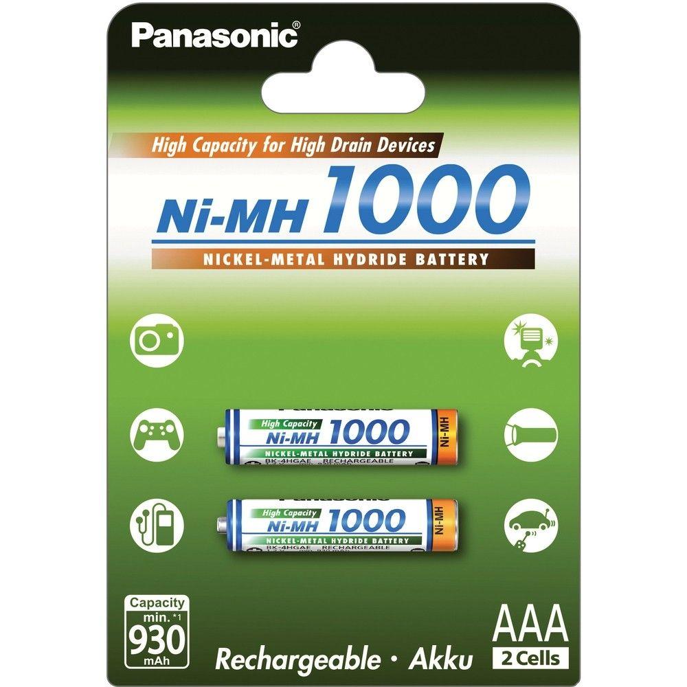 Balenie - Batéria Panasonic AAA, mikrotužková, 1,2 V - 1000 mAh - Ni-MH (2ks)
