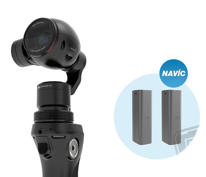 DJI OSMO univerzálna športová kamera + akumulátor zdarma
