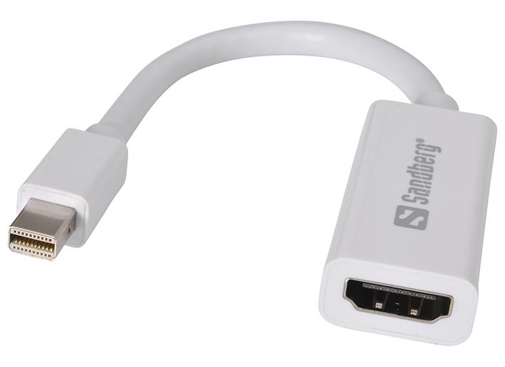 Adaptér Mini DisplayPort 1.2 - HDMI, 4K