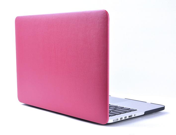 """Plastový obal na MacBook Pre Retina 13"""" Leather - růžový"""
