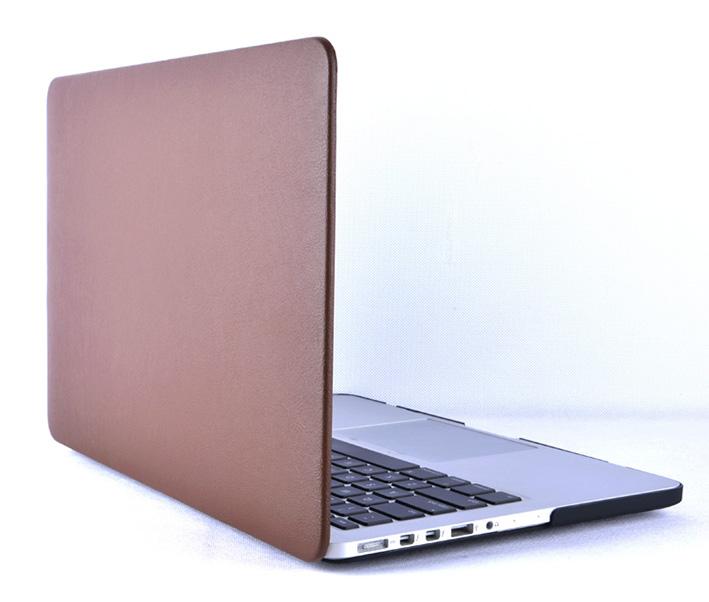 """Plastový obal na MacBook Pre Retina 13"""" Leather - hnědý"""