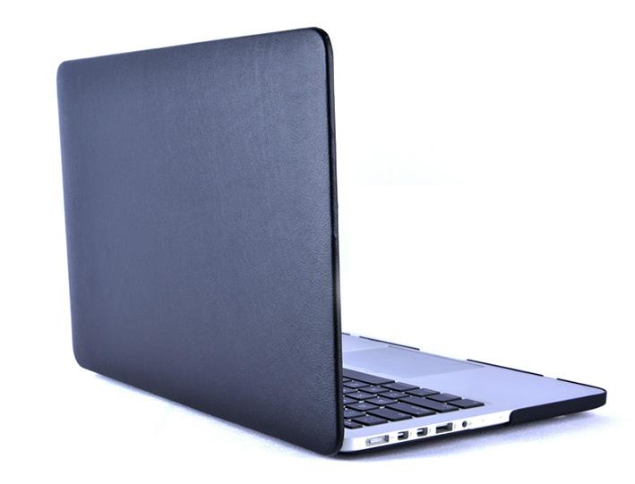 """Plastový obal na MacBook Pre Retina 13"""" Leather - černý"""