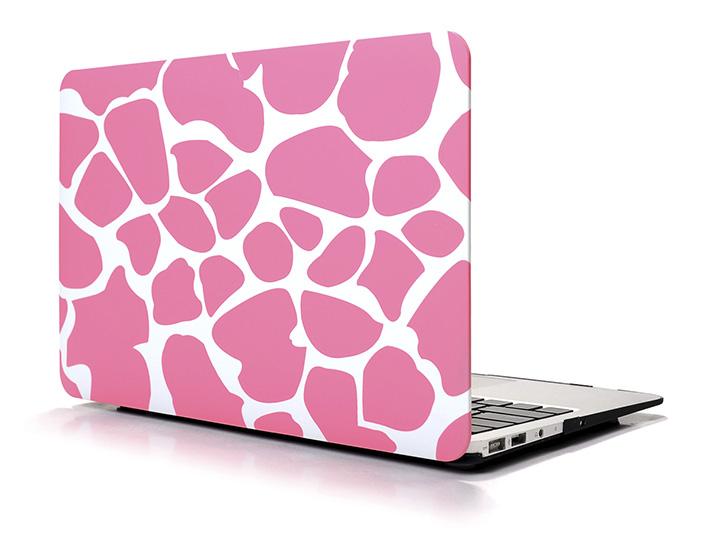 """Plastový obal na MacBook Air 13"""" Giraffe - růžový"""