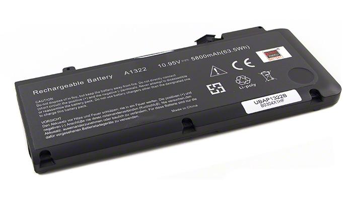 Batéria pre Apple MacBook Pre 13 2009-2012 - 5800 mAh