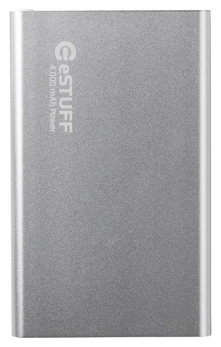 eSTUFF externá batéria Power Bank Ultra-slim - 4000 mAh - strieborná