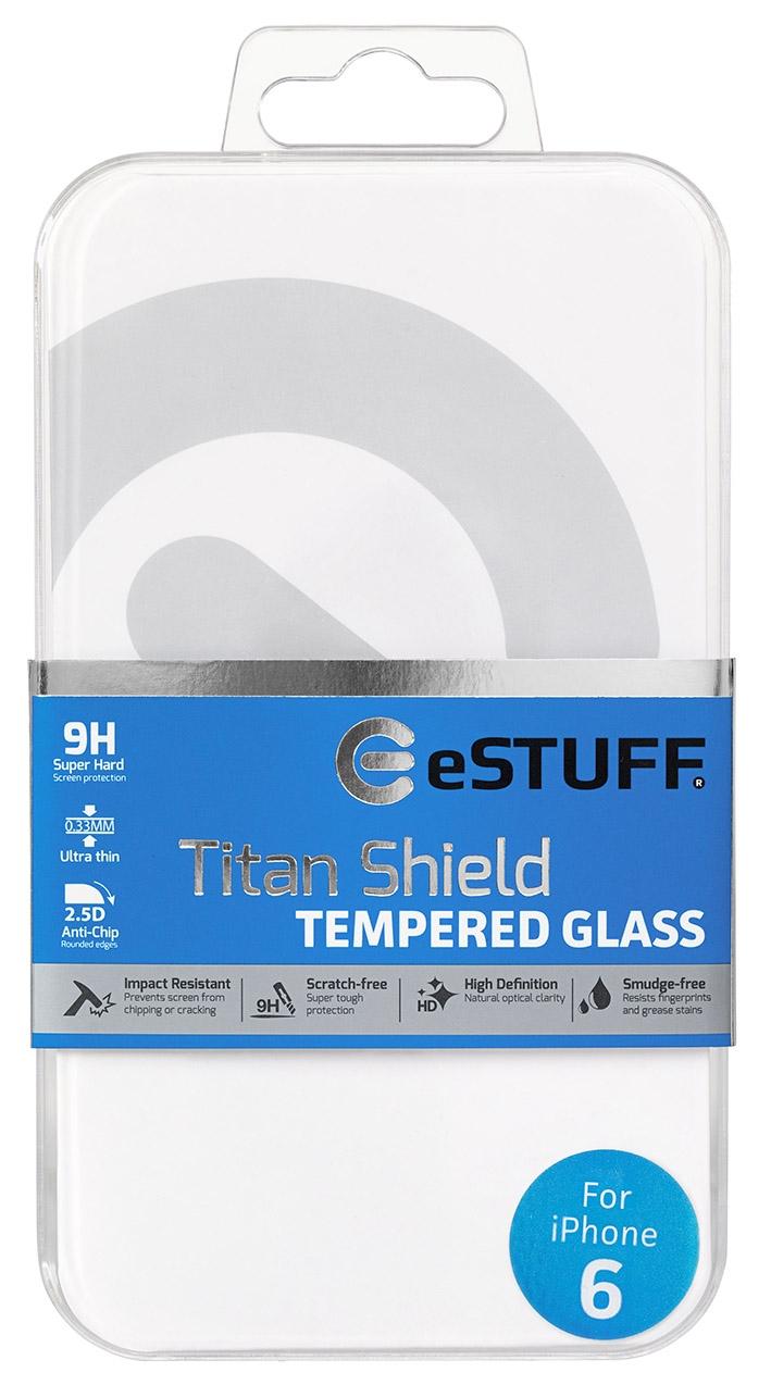 eSTUFF  ochranné sklo TitanShield pre iPhone 6/6s