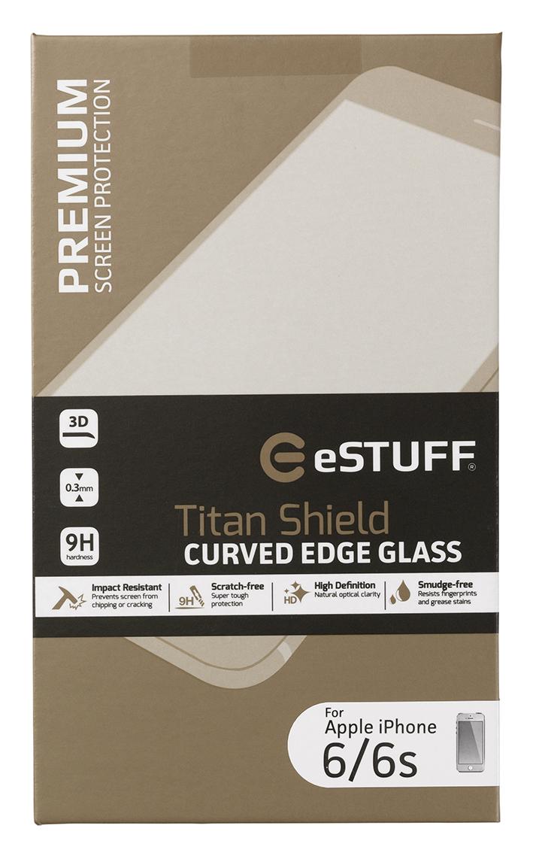 eSTUFF  ochranné sklo TitanShield 3D pre iPhone 6/6s bílé