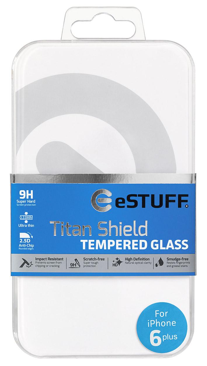 eSTUFF  ochranné sklo TitanShield pre iPhone 6+/6s+