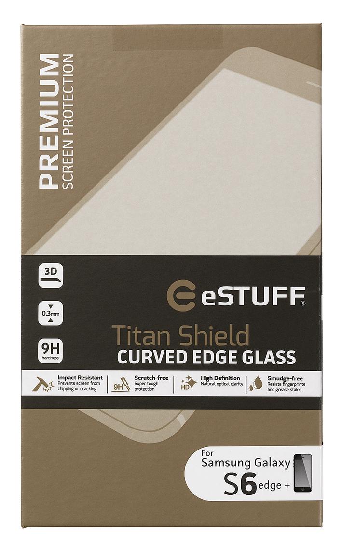 eSTUFF  ochranné sklo TitanShield 3D pre Samsung Galaxy S6 Edge+ černé