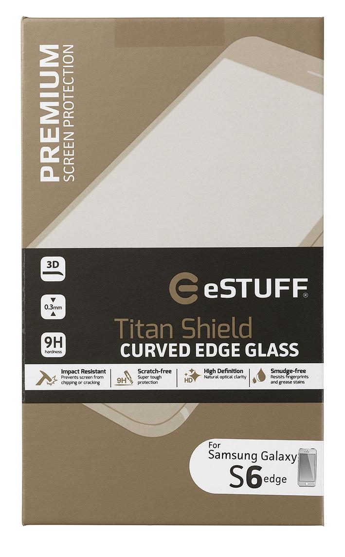 eSTUFF  ochranné sklo TitanShield 3D pre Samsung Galaxy S6 Edge bílé