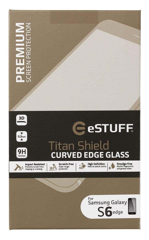eSTUFF  ochranné sklo TitanShield 3D pre Samsung Galaxy S6 Edge černé