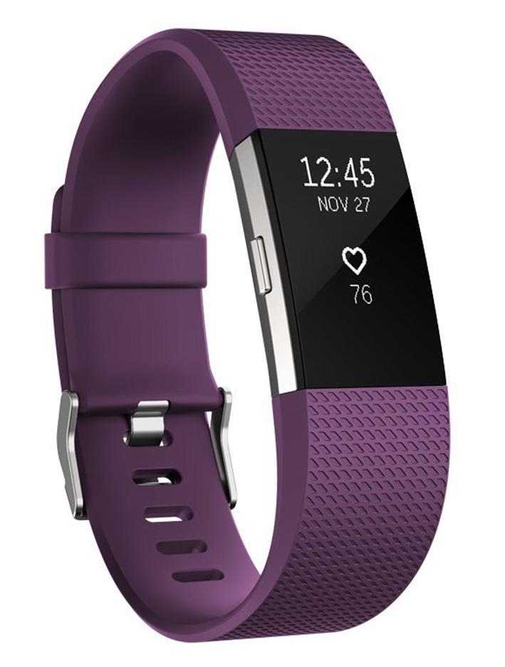 Fitbit Charge 2 - fitness náramok - vel. L, fialový