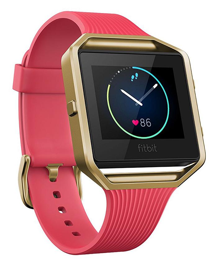 Fitbit Blaze - chytré hodinky - vel. L, růžové, Gold - limitovaná edice