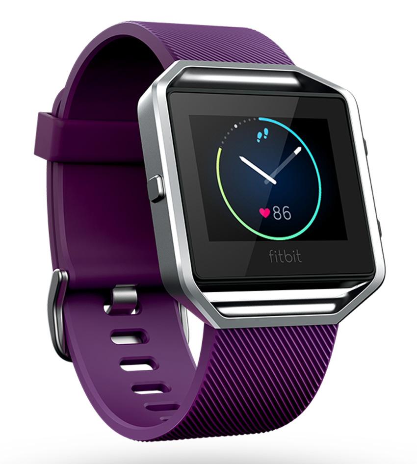Fitbit Blaze - inteligentné hodinky - vel. L, fialové