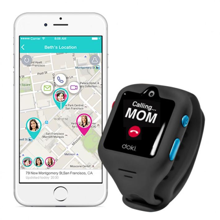 dokiWatch detské inteligentné hodinky s videotelefonem a GPS - Shark Grey
